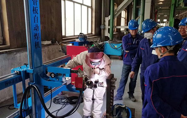 Tube to Plate Welding Machine Drive Adopts Stepper Motor System